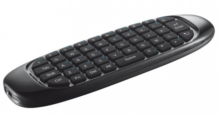 SMART klávesnice Trust Wireless Keyboard & Air Mouse pre TV, US, čierna ROZBALENO