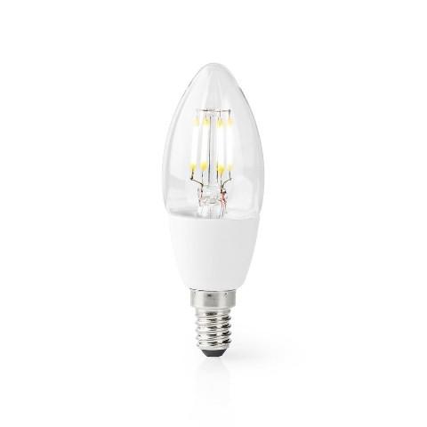 SMART LED žiarovka Nedis WIFILF10WTC37, E14, 5W, sviečka, biela