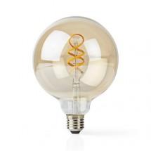 SMART LED žiarovka Nedis WIFILT10GDG125, E27, guľatá, biela