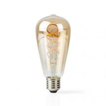 SMART LED žiarovka Nedis WIFILT10GDST64, E27, 5,5W, filament