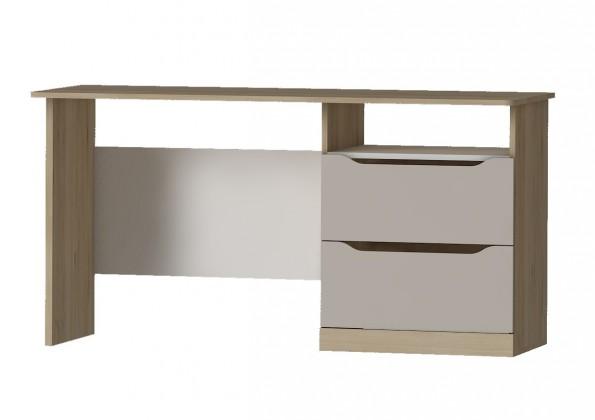 Smart - Pracovný stôl (buk ibsen, biela, champagne)
