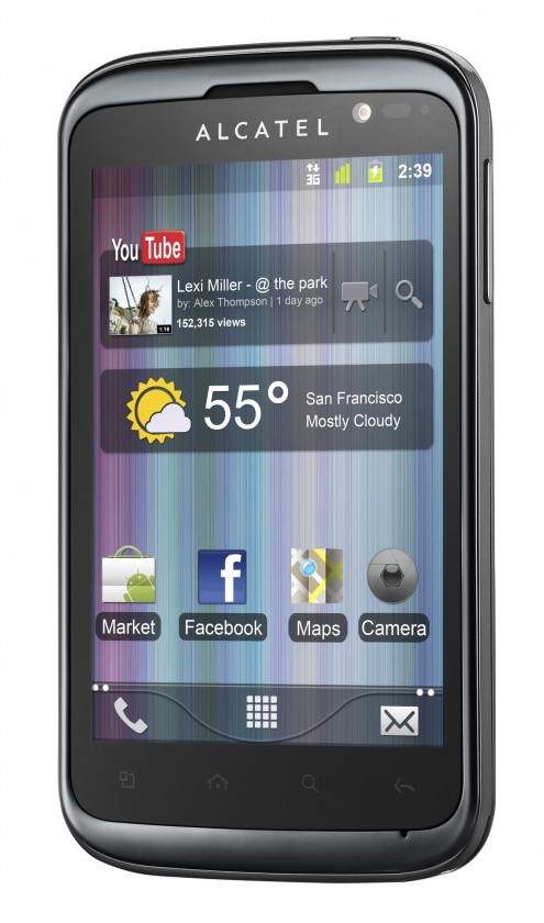 Smartphone  Alcatel One Touch 991D Black