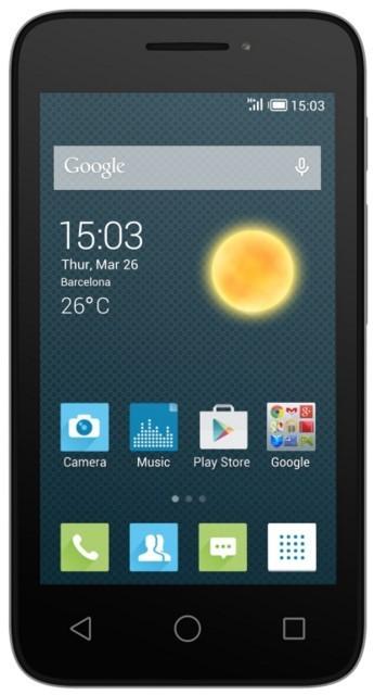 Smartphone Alcatel Pixi 3 OT-4027D, strieborný
