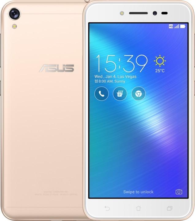Smartphone Asus Zenfone Live ZB501KL, zlatý