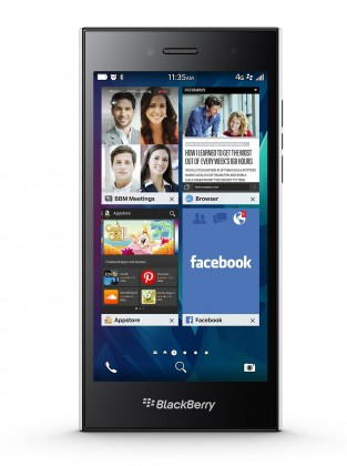 Smartphone BlackBerry Leap, biely