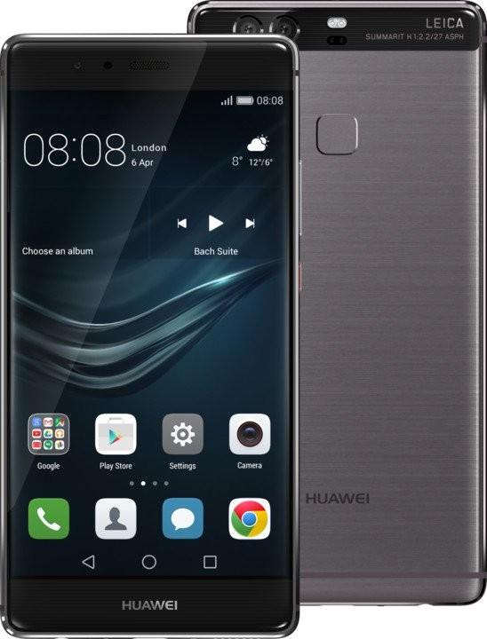 Smartphone Huawei P9 Plus Single SIM, sivá