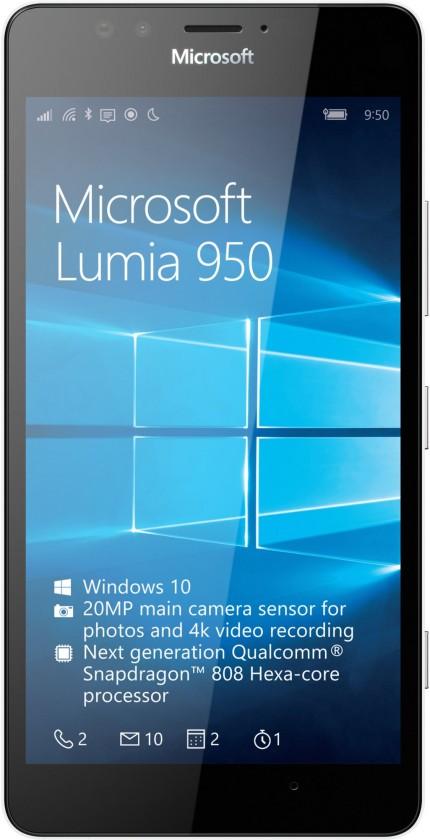 Smartphone Microsoft Lumia 950, biela
