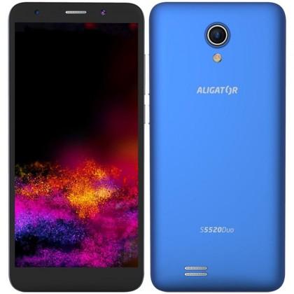 Smartphone Mobilný telefón Aligator S5520 Duo 1GB/16GB, modrá