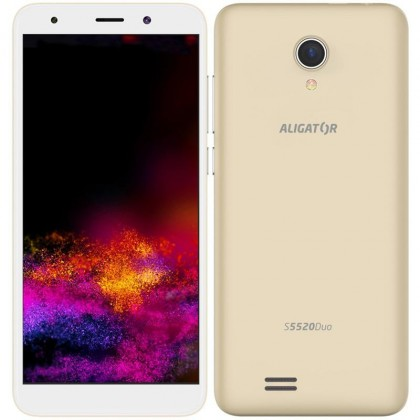 Smartphone Mobilný telefón Aligator S5520 Duo 1GB/16GB, zlatá