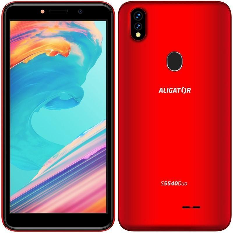 Smartphone Mobilný telefón Aligator S5540 2GB/32GB, červená POUŽITÉ, NEOPOTR
