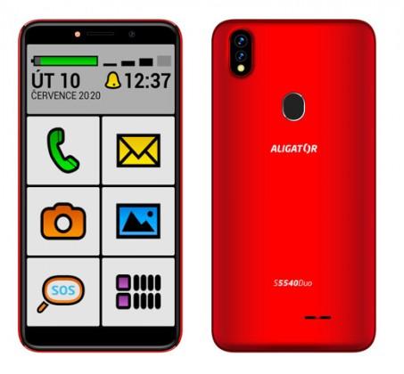 Smartphone Mobilný telefón Aligator S5540KS 2GB/32GB, Kids+Senior, červená