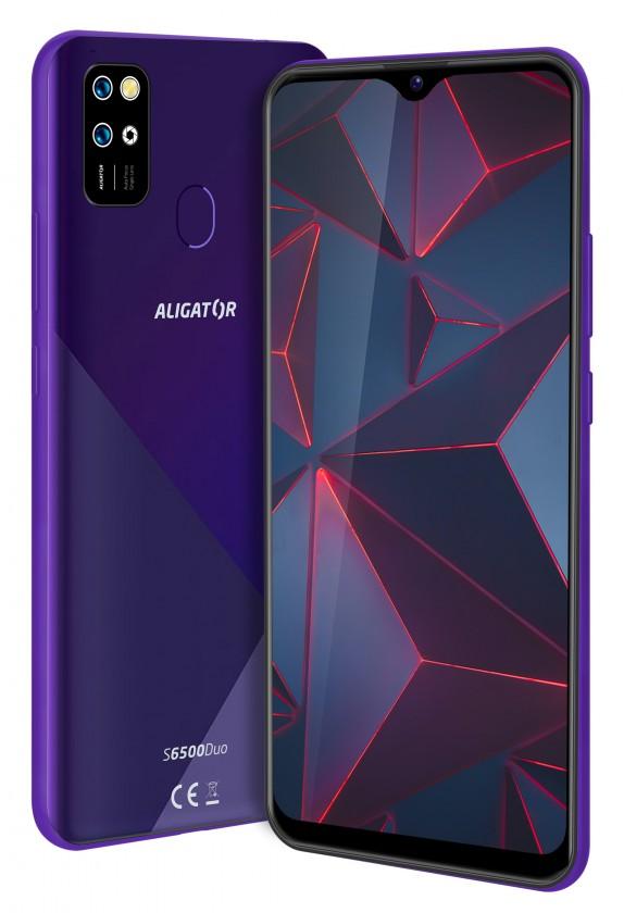 Smartphone Mobilný telefón Aligator S6500 2GB/32GB, fialová