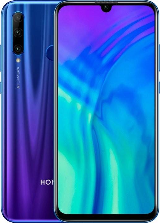 Smartphone Mobilný telefón Honor 20 Lite 4GB/128GB, modrá