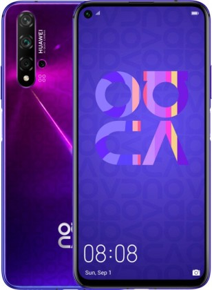 Smartphone Mobilný telefón Huawei Nova 5T DS 6GB/128 GB, fialová