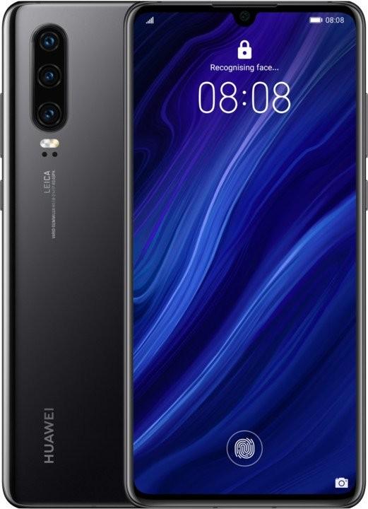 Smartphone Mobilný telefón Huawei P30 DS 6GB/128GB, čierna