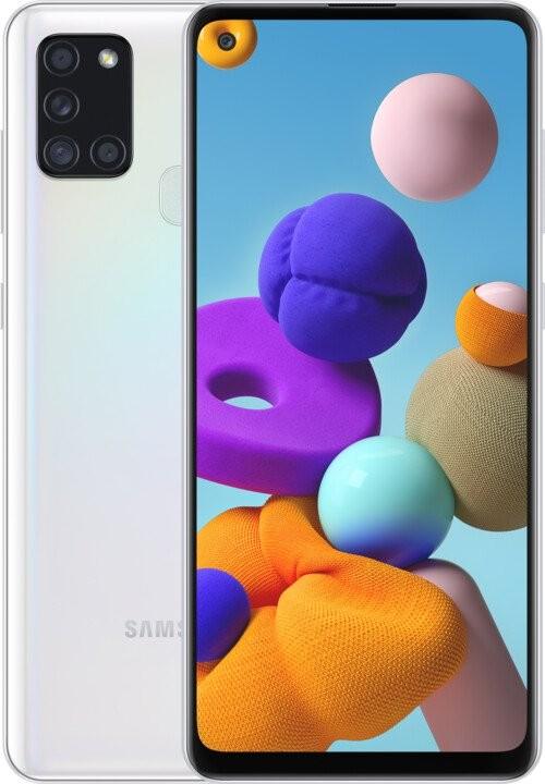 Smartphone Mobilný telefón Samsung Galaxy A21s 4GB/64GB, biela