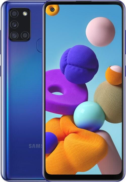 Smartphone Mobilný telefón Samsung Galaxy A21s 4GB/64GB, modrá