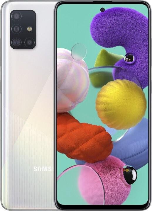 Smartphone Mobilný telefón Samsung Galaxy A51 4GB/128GB, biela