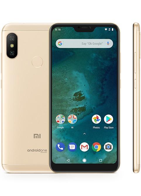Smartphone Mobilný telefón Xiaomi Mi A2 LITE 4GB/64GB, zlatá
