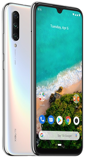 Smartphone Mobilný telefón Xiaomi Mi A3 4GB/128GB, biela