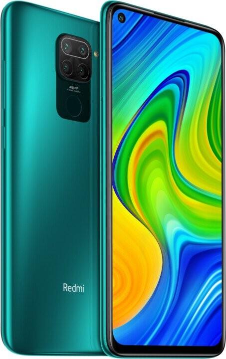 Smartphone Mobilný telefón Xiaomi Redmi Note 9 3GB/64GB, zelená
