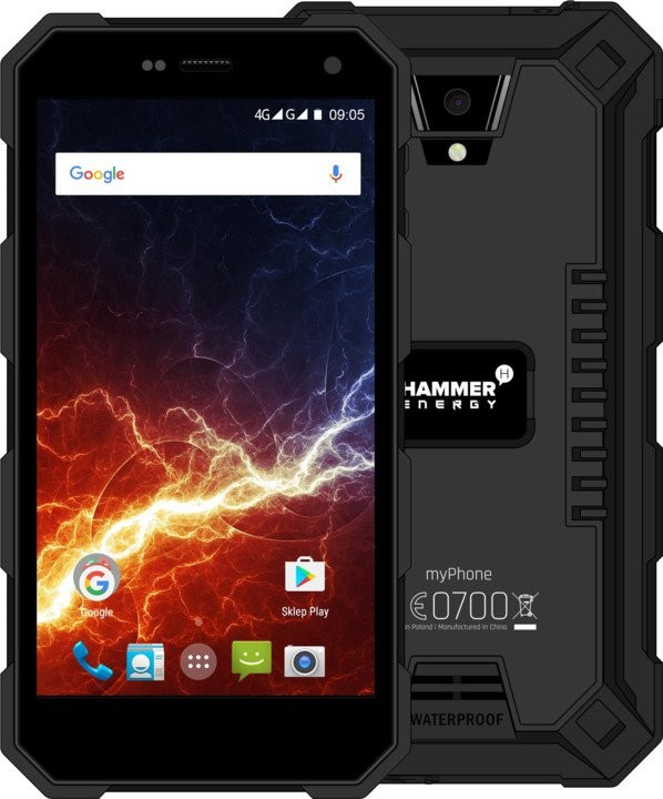 Smartphone Odolný telefón myPhone Hammer ENERGY 2GB/16GB, čierna