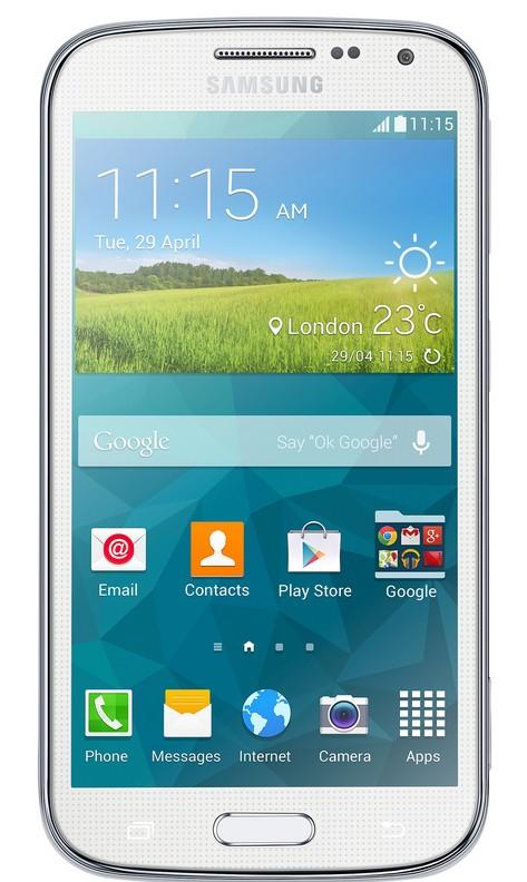 Smartphone Samsung Galaxy K Zoom (SM-C115), biely