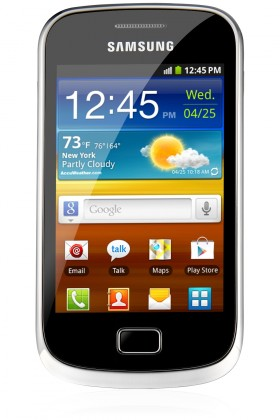 Smartphone Samsung Galaxy Mini 2 (S6500), žltý