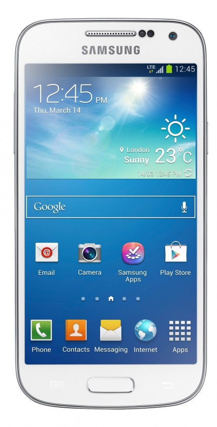 Smartphone Samsung Galaxy S4 Mini (i9195), biely