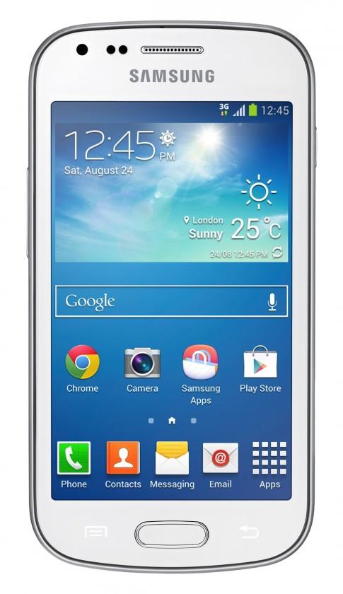 Smartphone Samsung Galaxy Trend Plus (S7580), biely