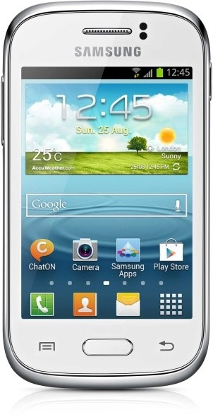 Smartphone Samsung Galaxy Young (S6310), biely