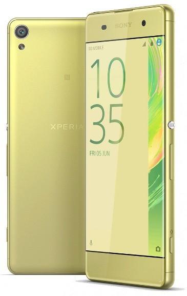 Smartphone Sony Xperia XA, limetkovo zlatá