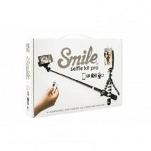 Smile Selfie sada do rúk,kov/plast,čierná