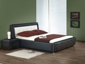 Soho - Posteľ 200x160, rám postele, rošt (čierno-biela)