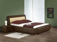 Soho - Posteľ 200x160, rám postele, ÚP, rošt (hnedo-béžová)