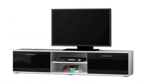 Soho - TV komoda (biely mat / čierna lesk, RTV '180')