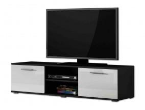 Soho - TV komoda (čierny mat / biela vysoký lesk, RTV '140')