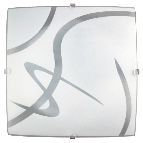 Soley Square - Nástenná svietidla, E27 (biela/průsvitná)