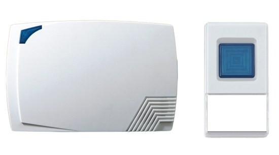 Solight 1L08 bezdrôtový zvonček,batériový,80m,biely