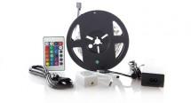 Solight LED pás, RGB, 3m,adaptér a diaľk. ovládač, 7,2W/m,WM55 PO