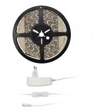 Solight LED svetelný pás 5m 12V + adaptér IP65 (WM51-65T)