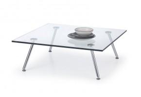 Solo - Konferenčný stolík štvorcový (transp. sklo, chrom)