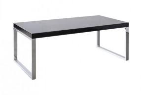 Solveo - konferenčný stolík (čierna, chrómové nožičky)