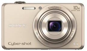 Sony DSC-WX220 zlatá,18,2Mpix,10xOZ,fullHD,WiFi zlatá
