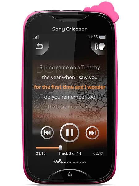 Sony Ericsson Walkman Mix WT13 Pink cloud on black