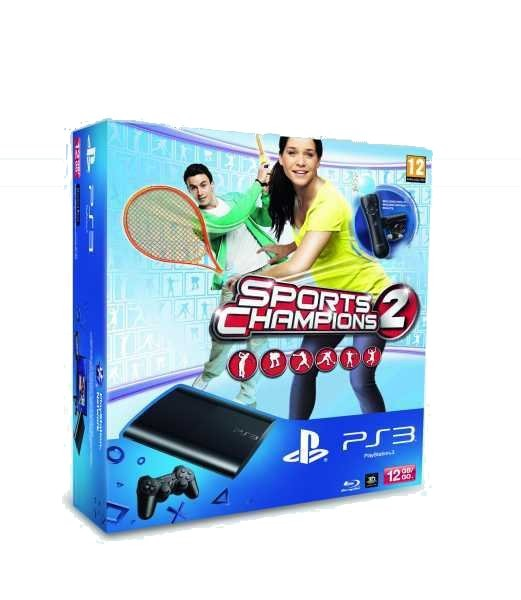 Sony PlayStation 3-12GB+Sports Champions 2 Starter Pack-2x MOVE