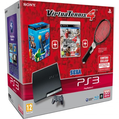Sony Playstation 3 320GB+Virtua Tennis 4+Move pack (PS719118299)