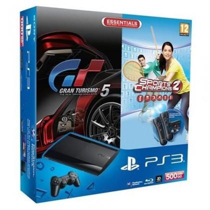 Sony Playstation 3 500GB + Gran Turismo 5 + SCH2 + 2x Move