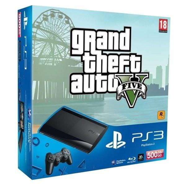 SONY PlayStation 3 - 500GB + Grand Theft Auto V