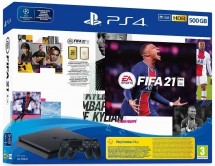 SONY PlayStation 4 500GB - čierny + FIFA21 + 2x DualShock POUŽITÉ